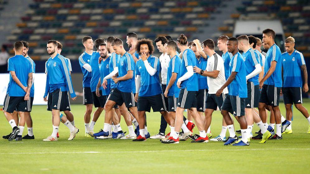 Foto: Entrenamiento del Real Madrid en Abu Dhabi. (EFE)