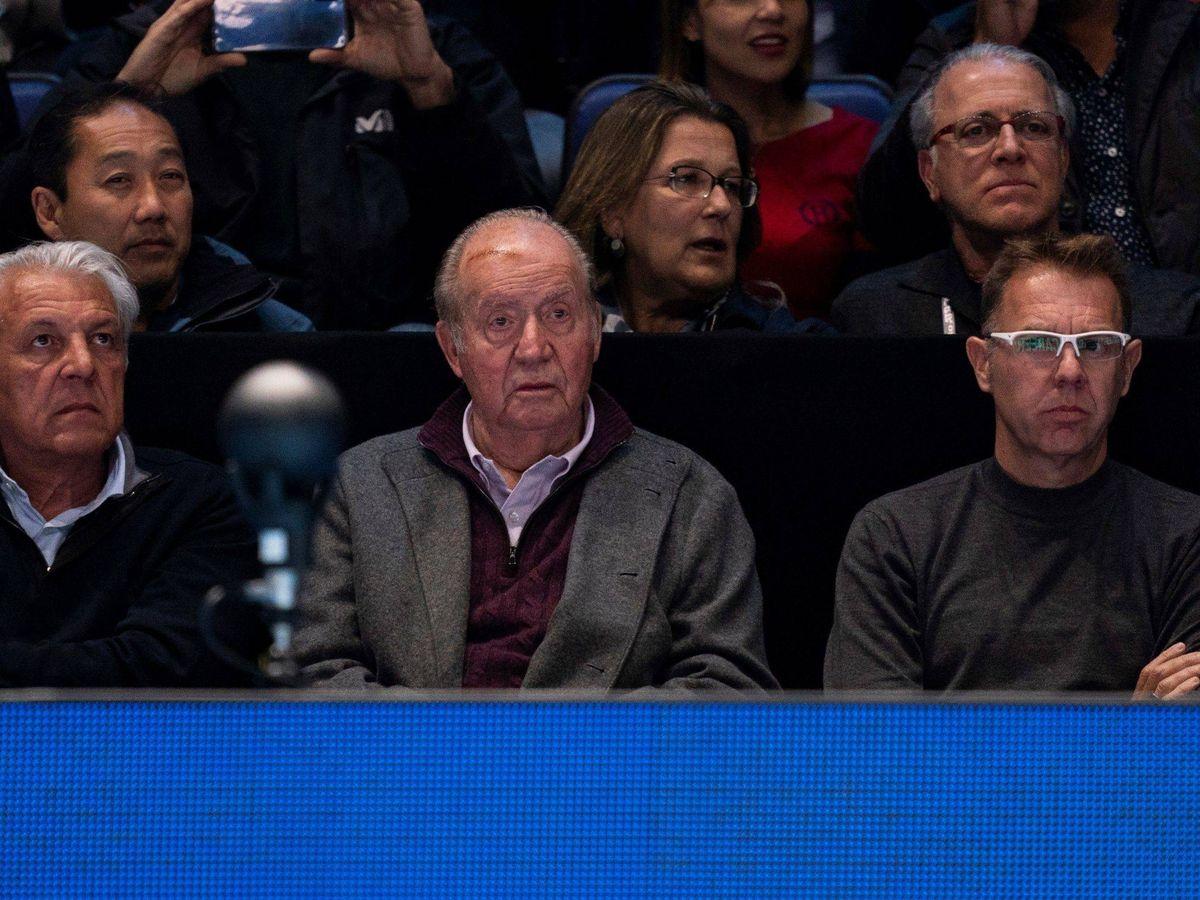 Foto: El rey Juan Carlos, en las gradas. (EFE)