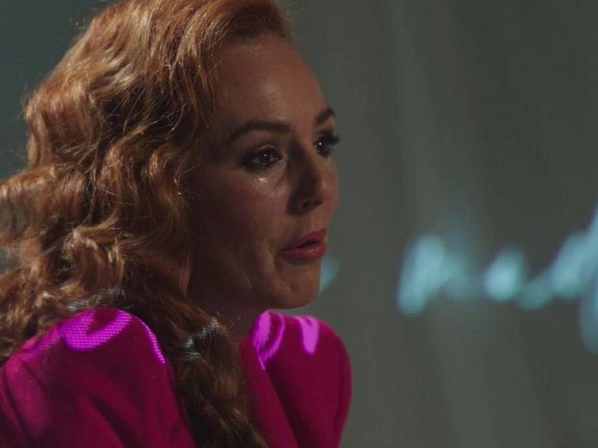 Foto: Rocío Carrasco, durante su intervención televisiva. (Mediaset)
