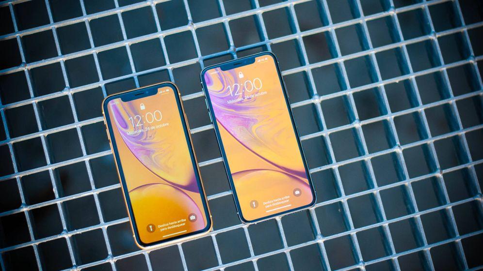 Foto: El iPhone Xr y el iPhone Xs Max. (Carmen Castellón)