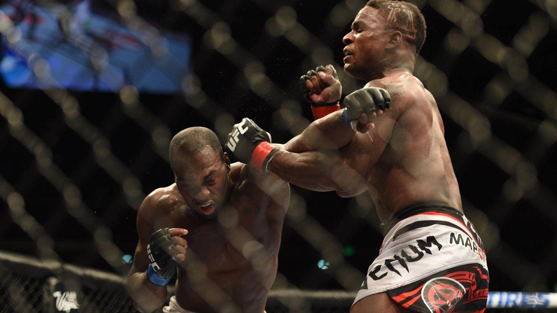 Foto: Derek Brunson, en una pelea anterior (USA TODAY Sports).