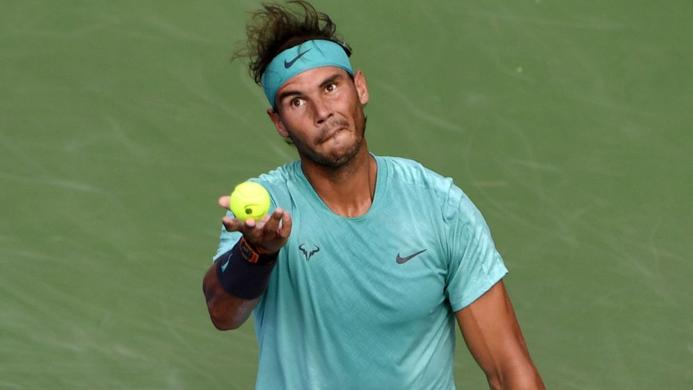Foto: Rafa Nadal durante la final del Masters 1000 de Montreal. (USA TODAY Sports)