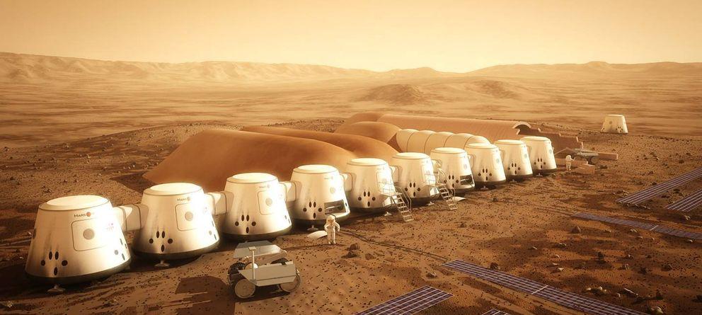 Foto: Proyección de la colonia planteada por Mars One (Mars One)