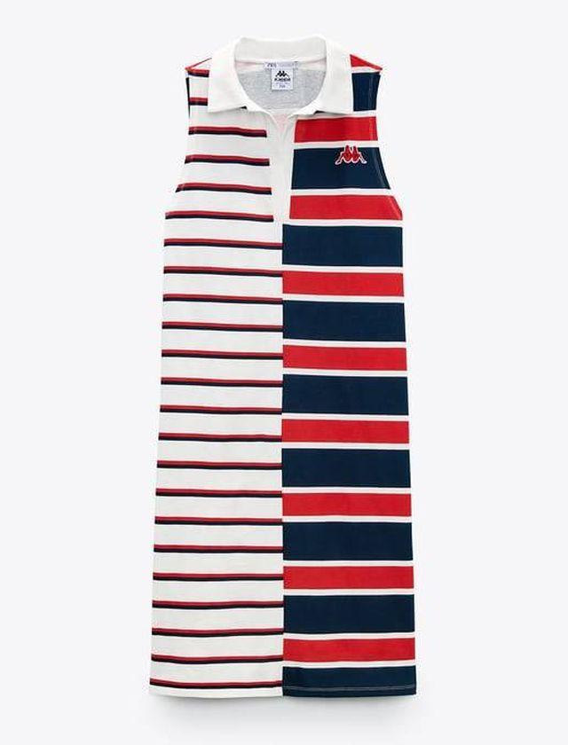 Vestido rayas horizontales, Zara en colaboración con Kappa. ZARA