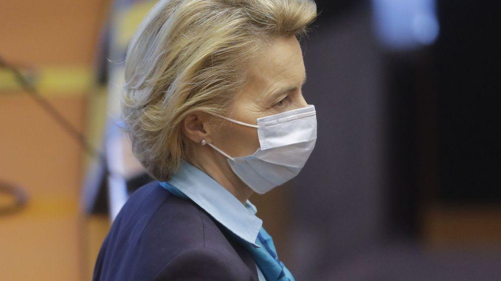 Foto: Ursula Von der Leyen, presidenta de la Comisión Europea en una sesión del Parlamento de la Unión. (EFE)