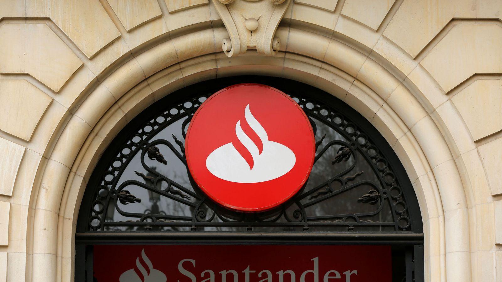 Foto: El logo del banco Santander. (Reuters)