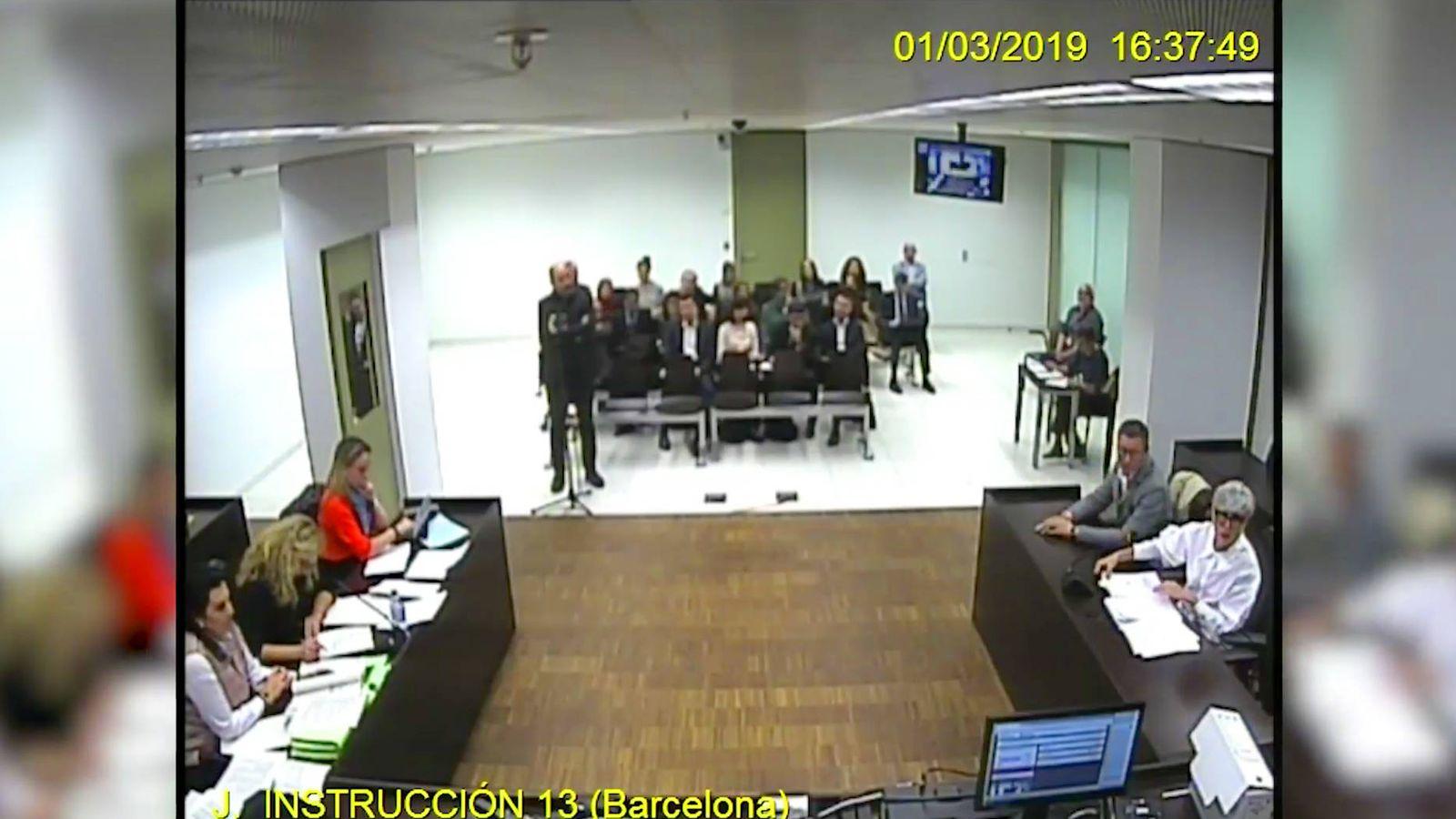 Foto: Vicente Sanchís, director de TV3, declarando en el juicio.