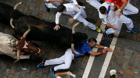 Cuarto encierro de Sanfermines con toros de Fuente Ymbro
