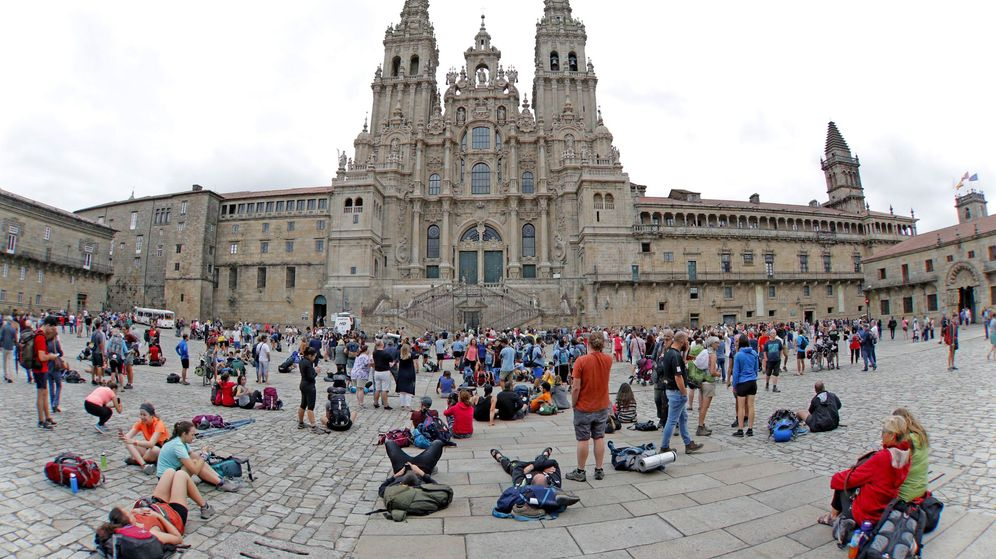 Foto: Vista de la Plaza del Obradoiro de Santiago de Compostela. (EFE)