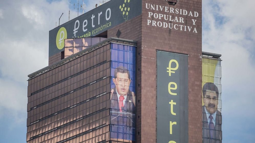 Foto: Promoción de la criptodivisa venezolana, el petro, en Caracas (Efe)