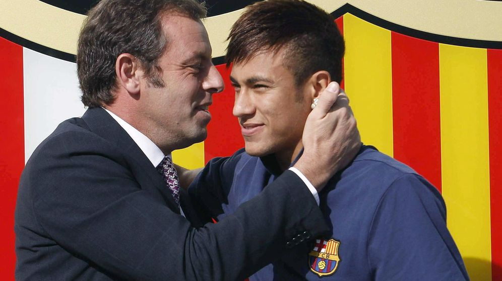 Foto: Rosell y Neymar. (EFE)