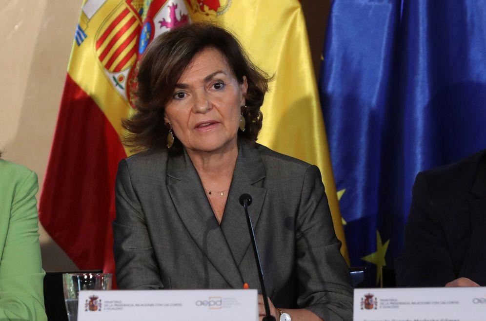 Foto: Carmen Calvo, vicepresidenta del Gobierno en funciones, este 24 de septiembre en Madrid. (EFE)