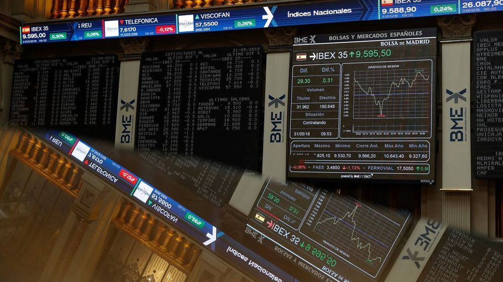Foto: Paneles de la Bolsa de Madrid. (EFE)