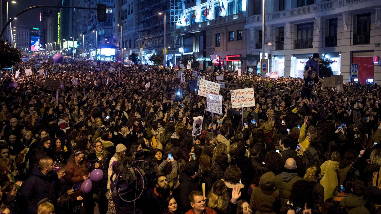 Masiva manifestación feminista el pasado 8 de marzo en Madrid. (EFE)