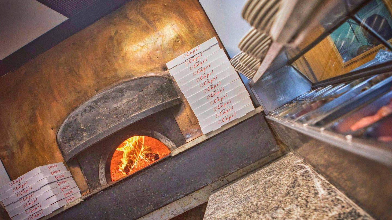 El horno de la pizzería Capri.