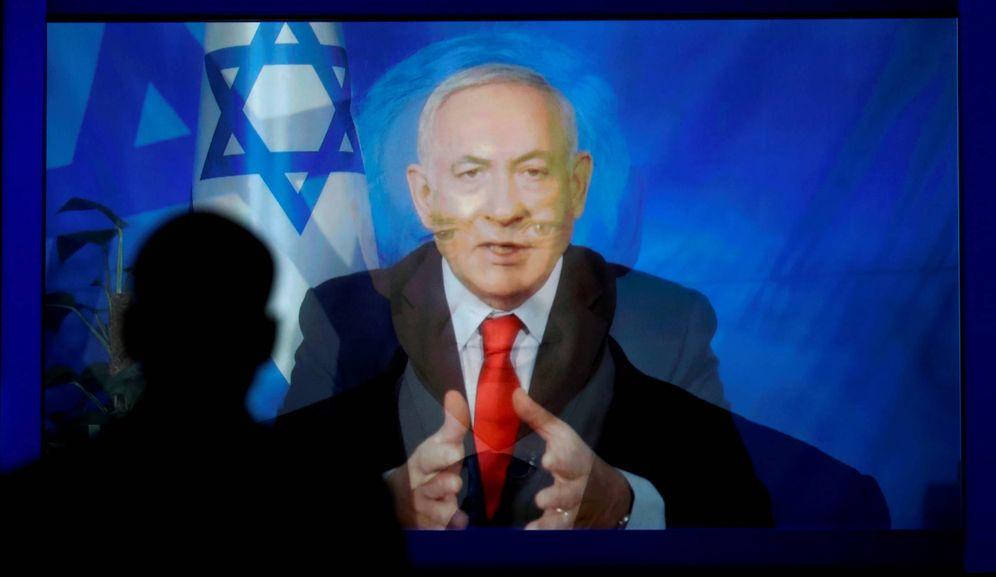 Foto: Netanyahu se dirige al AIPAC en Washington. (Reuters)