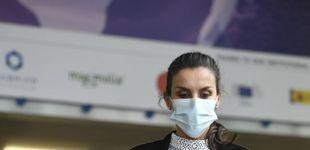 Post de Letizia luce en Sevilla el vestido de Cherubina con el que 'conoció' a Kate Middleton