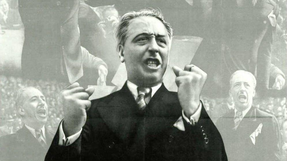Foto: Lluís Companys en un cartel de la Guerra Civil.