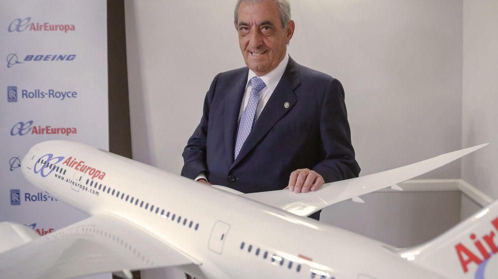 Foto: El presidente del grupo Globalia, al que pertenece Air Europa, Juan José Hidalgo. (EFE)