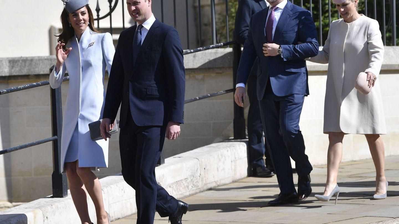 Zara y su marido juntos a los duques de Cambridge. (EFE)