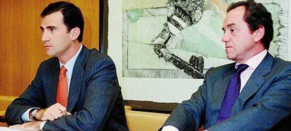 Foto: Felipe VI con Jaime Alfonsín en una imagen de archivo.