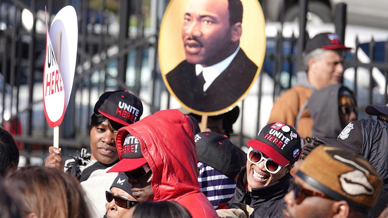 Marcha de homenaje por el 50 aniversario del asesinato de Martin Luther King en Washington. (Reuters)