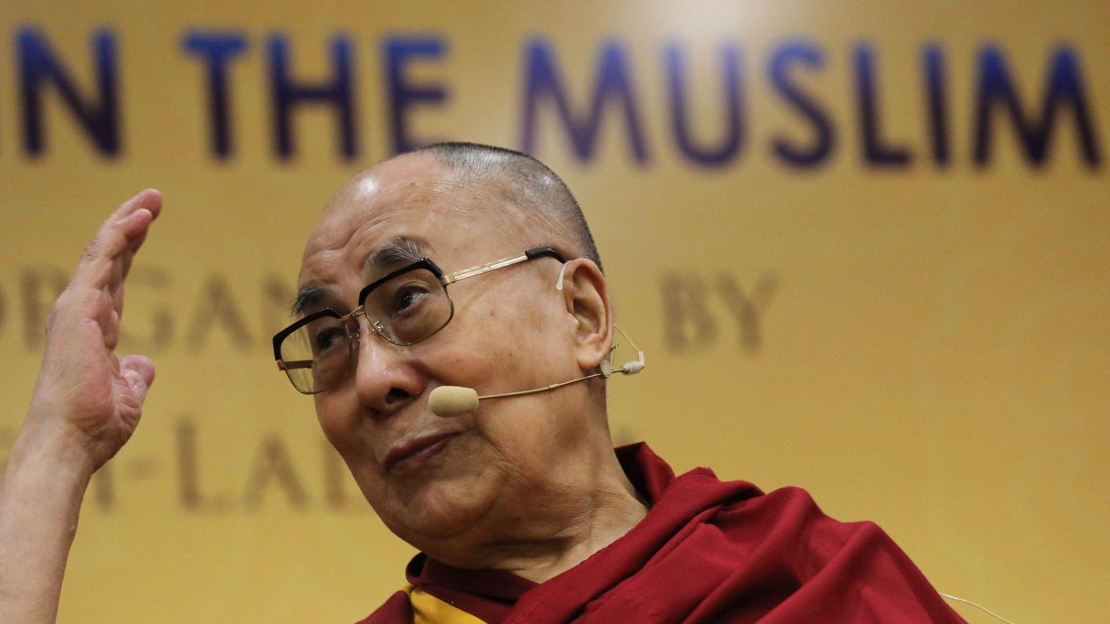 Foto: El Dalai Lama en Nueva Delhi. (EFE)