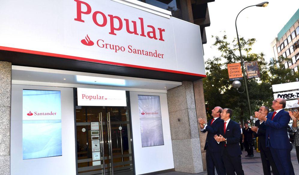 Foto: Las antiguas oficinas del Banco Popular ya bajo la dirección del Grupo Santander. (EFE)