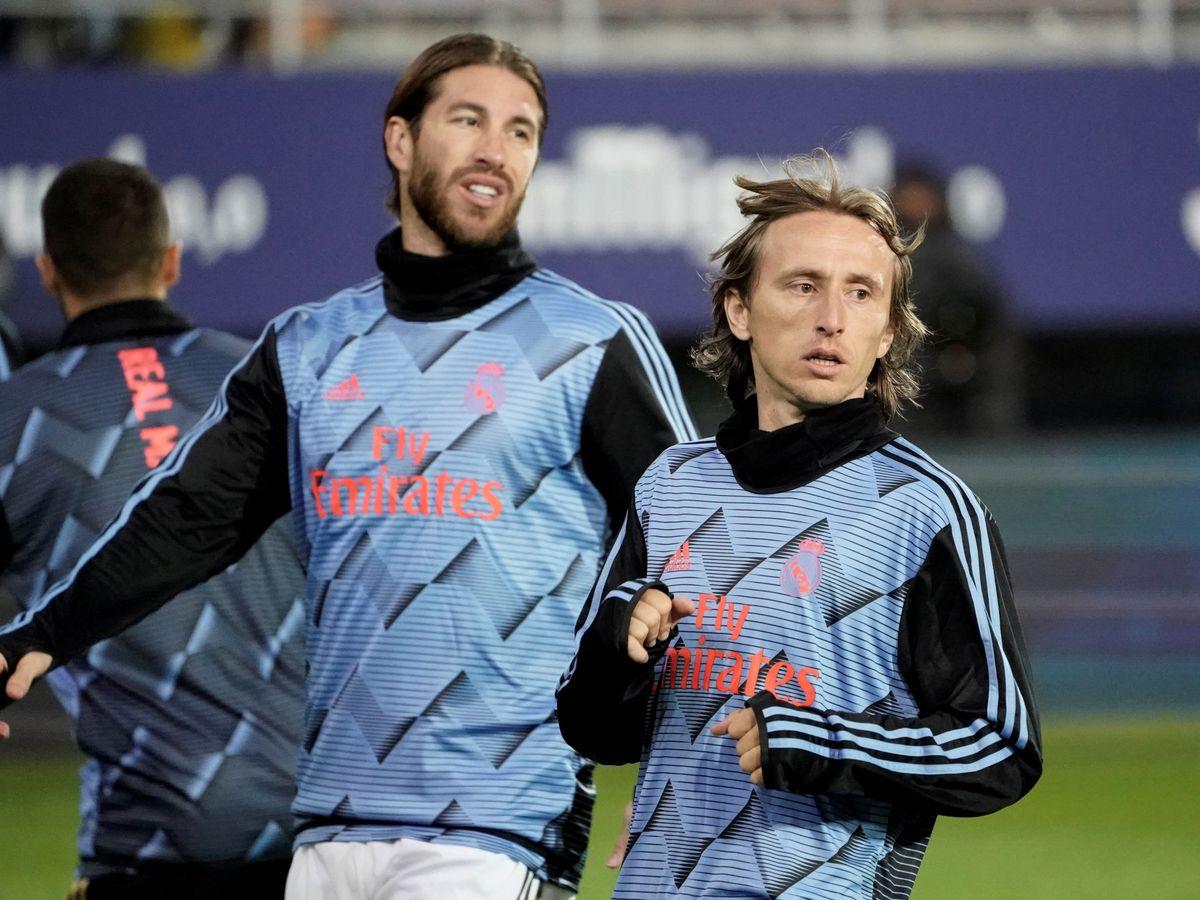 Foto: Sergio Ramos y Luka Modric, en una imagen de archivo. (Reuters)