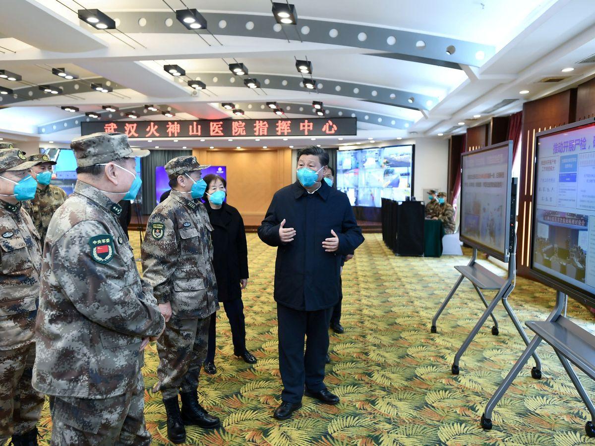 Foto: Xi Jinping visita Wuhan. (Reuters)