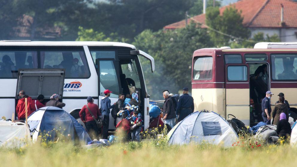 El desalojo del campamento de refugiados de Idomeni, en imágenes