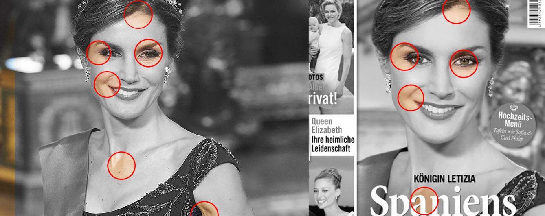 Foto: Comparativa de las dos imágenes de la Reina Doña Letizia