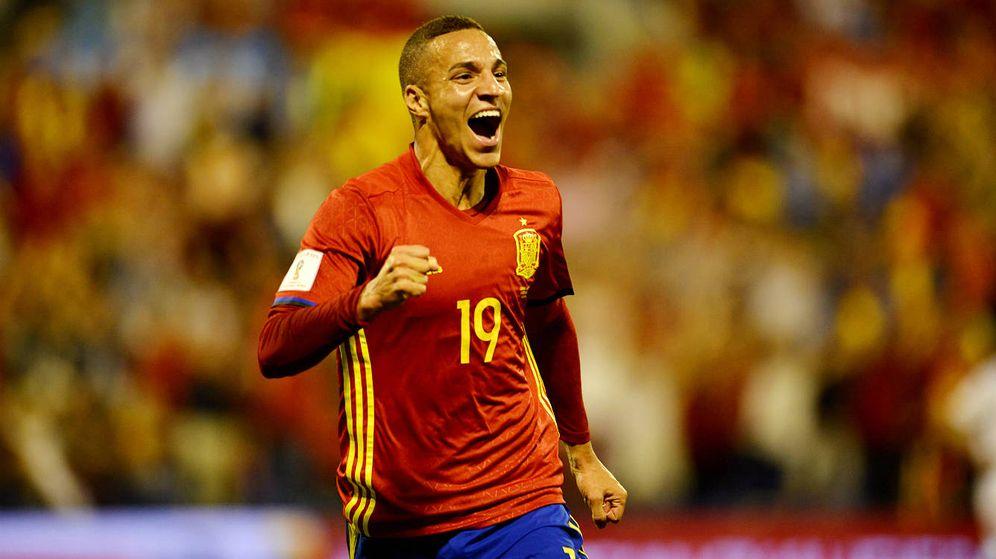 Foto: Rodrigo marcó su primer gol como internacional ante Albania. (Cordon Press)