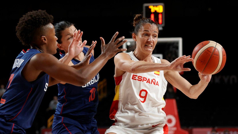 Laia Palau, durante el partido España-Serbia. (EFE)