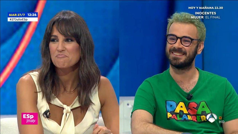 Pablo Díaz ('Pasapalabra') deja en evidencia a Lorena García en 'Espejo público'