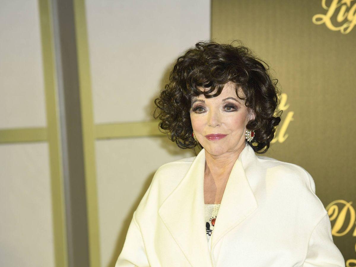 Foto: Joan Collins, en la presentación. (Limited Pictures)
