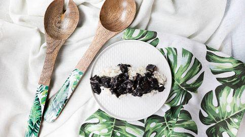 Receta típica del País Vasco: chipirones en su tinta con arroz blanco