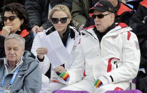 Corinna reaparece en los JJJO de Sochi junto a Alberto de Mónaco