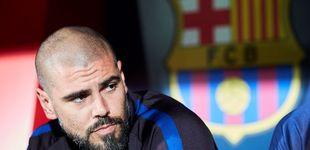 Post de  Víctor Valdés, despedido: ha durado tres meses como técnico en la cantera