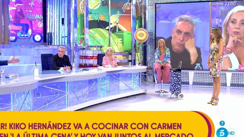 Kiko y Carmen en el plató de 'Sálvame'. (Mediaset España)