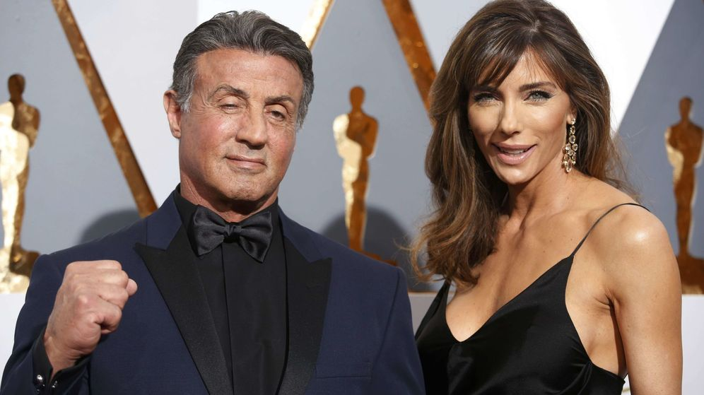 Foto: Sylvester Stallone y su esposa Jennifer Flavin, en la gala (Reuters)