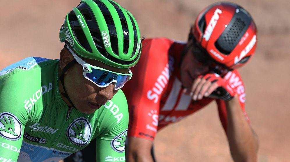 Foto: Nairo Quintana durante la etapa de este miércoles entre Aranda de Duero uy Guadalajara. (EFE)
