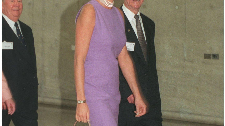 Diana de Gales en su visita a Australia en 1996. (Getty)