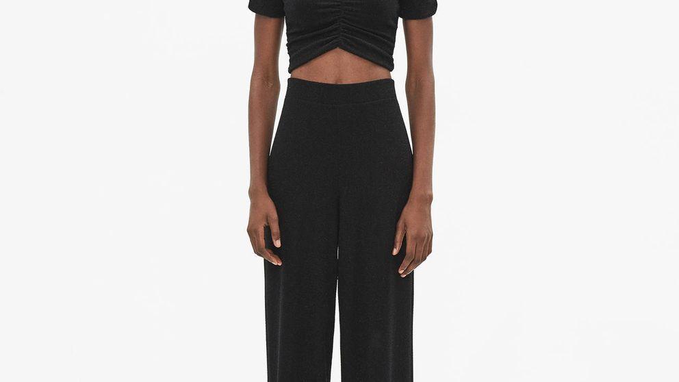 Este pantalón culotte con brillos es ideal tanto para ir de fiesta como para el trabajo