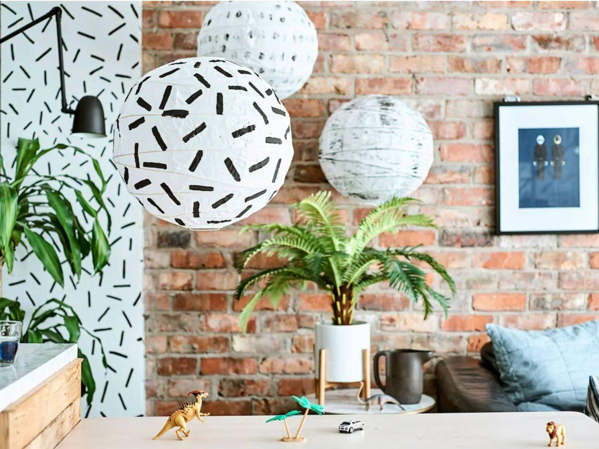 Foto: Deja volar tu imaginación con esta lámpara de Ikea. (Cortesía)