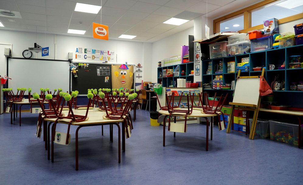 Foto: Imagen tomada este viernes de una clase de infantil de un colegio concertado. (EFE)