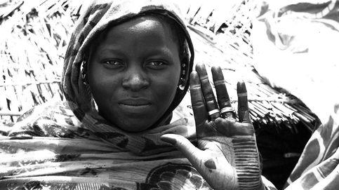 Retrato de Malí en blanco y negro