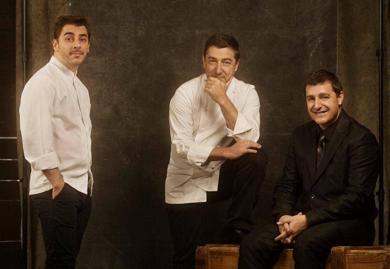 Foto: Jordi, Joan y Josep Roca