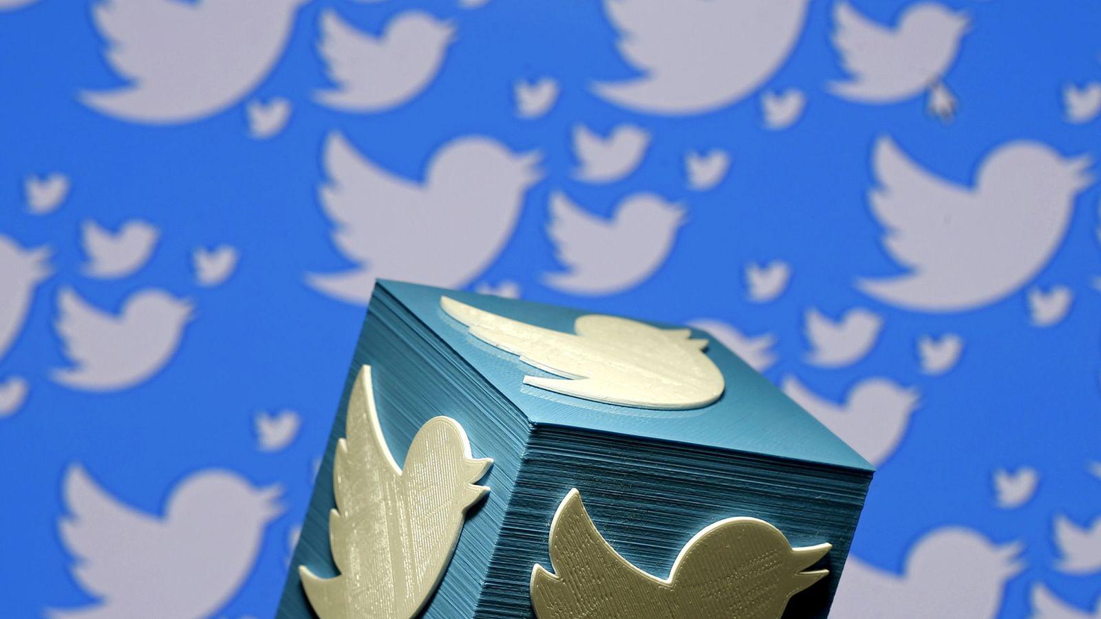 Foto: Logo de Twitter impreso en 3-D. (Reuters)