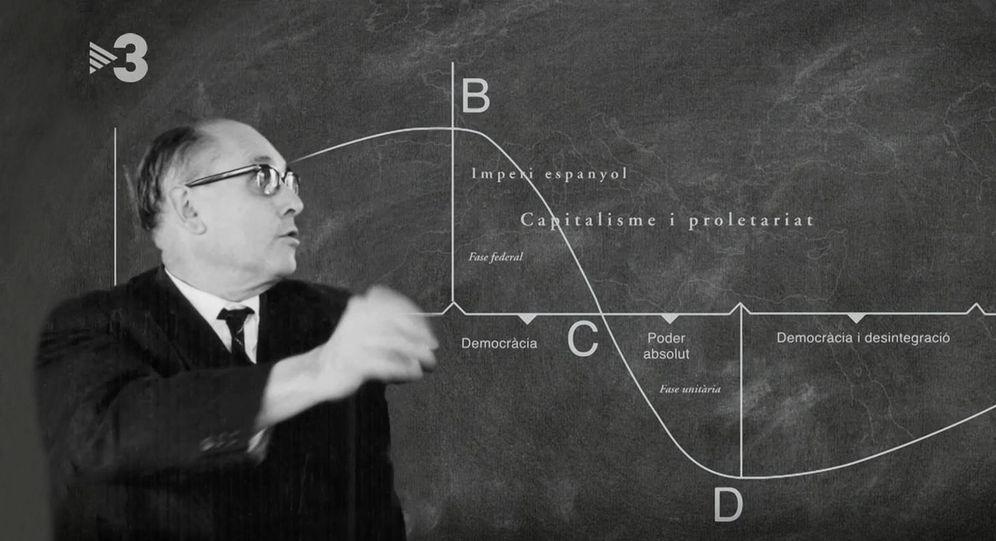 Foto: Alexandre Deulofeu, explicando sus fórmulas. (TV3)